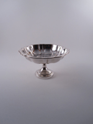 Silver Bowl with Pedestal