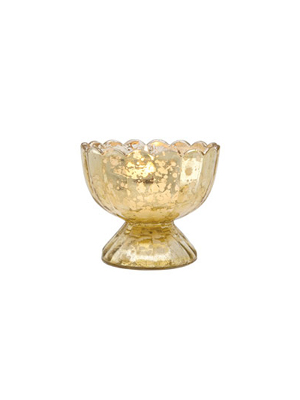 Gold Mercury Glass Tealight Holder – Sundae Cup