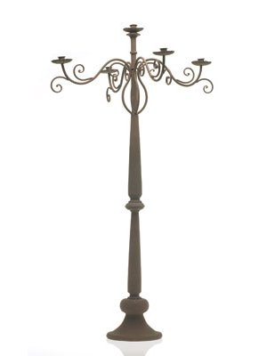 Brown Rustic Candelabra – Tall Standing