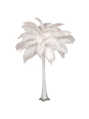 Ostrich Feather Centerpiece – White