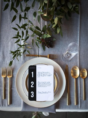 Modern Gold Flatware – Dinner Knife