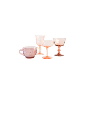 Estate Glassware – Pink & Amethyst