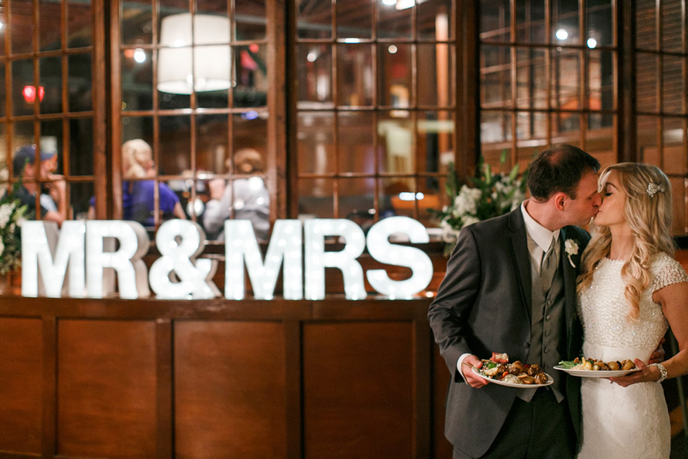 mr and mrs marquee sign
