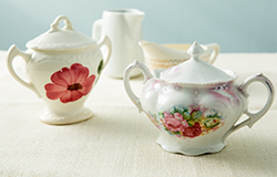 Vintage Creamers and Sugar Bowls