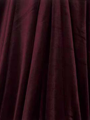 Velvet Tablecloth – Burgundy 120 in. Round