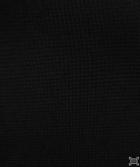 Solid Polyester Linen – Black