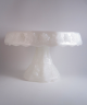 Cake Pedestal – Milk Glass, Grapes and Leaves