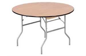 Wood Folding Table – Round