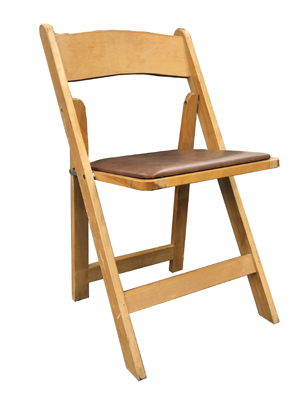 Garden Folding Chair – Natural Wood